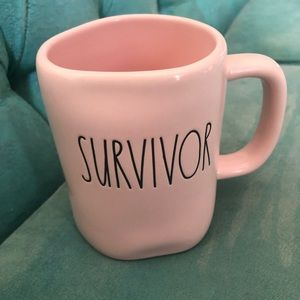 Rae Dunn Pink Survivor Mug